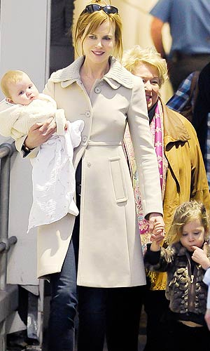 Nicole Kidman brought her newest addition, 6-month-old Faith Margaret, to Australia for the first time this week. - Scope Australia/PacificCoastNews.com