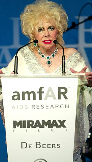 The screen legend speaks out for her favorite cause at amfAR's Cinema Against AIDS benefit during the 56th International Cannes Film Festival in France on May 22, 2003. - Scott Gries/Getty Images