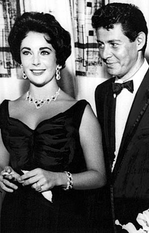 Elizabeth Taylor and Eddie Fisher. - Courtesy Everett Collection