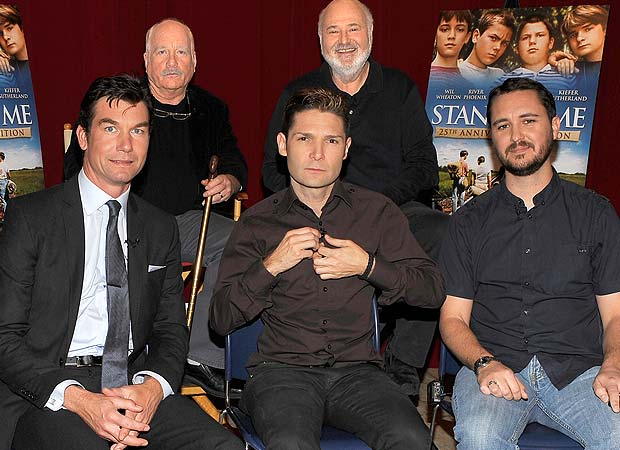 "Jerry O'Connell, Corey Feldman, and Wil Wheaton at the ""Stand By Me"" reunion with Richard Dreyfuss and Rob Reiner. - John M. Heller/Getty Images"