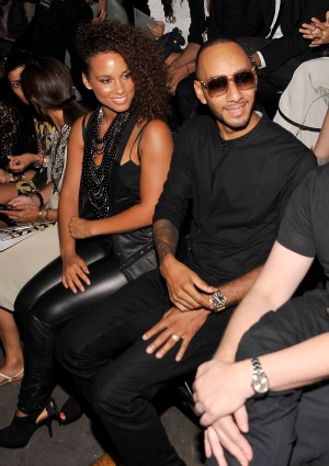 The couple sat front row at New York Fashion Week this past weekend. - Gary Gershoff/WireImage