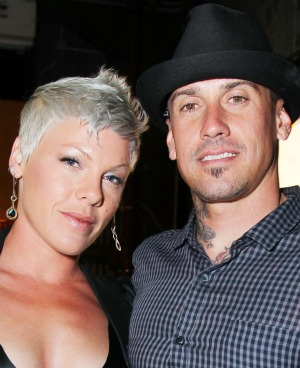 Pink and Carey Hart. - Alexandra Wyman/WireImage