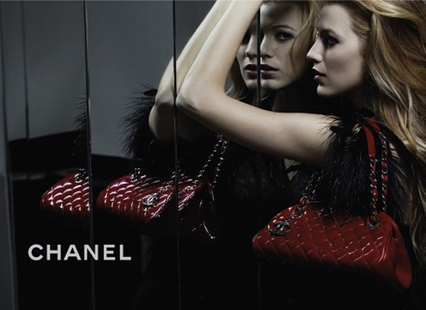 Lively's first ad for Chanel's Mademoiselle handbags. - Chanel
