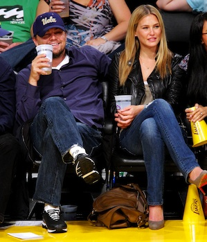 The press-shy pair at a Lakers game last year. - Noel Vasquez/Getty Images