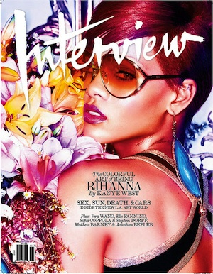 Rihanna graces the colorful cover. - Interview Magazine