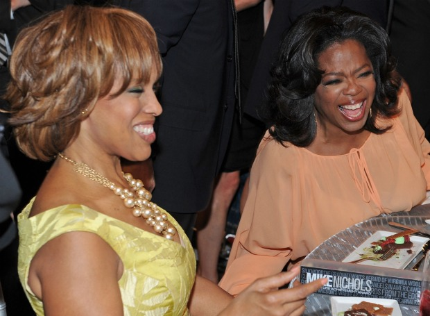 Oprah and Gayle laugh it off. - Frazer Harrison/Getty Images