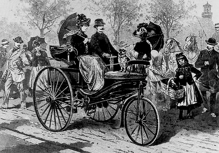 Jan 29 1886 karl benz patents gasoline powered automobile for Who invented the mercedes benz