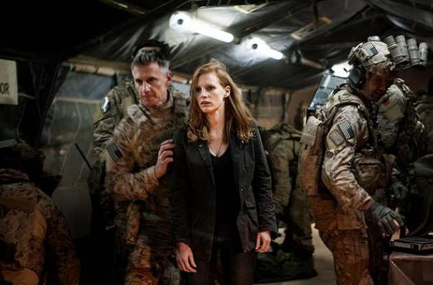Jessica Chastain, center, in 'Zero Dark Thirty' (Photo: Sony Pictures)