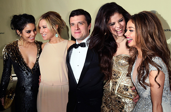 Vanessa Hudgens, Ashley Tisdale, Josh Hutcherson, Selena Gomez & Sarah Hyland (Getty Images)