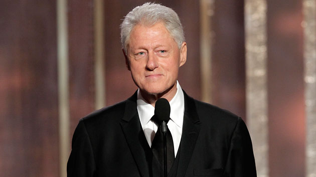 President Clinton at the Golden Globes. (Paul Drinkwater/NBC)