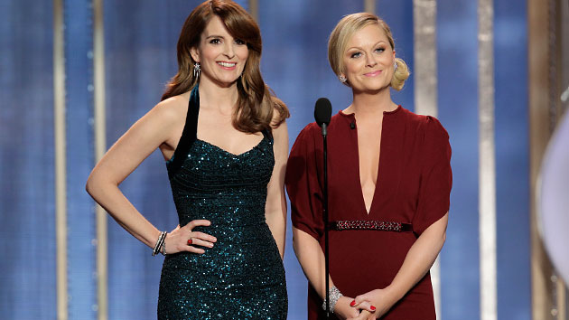 Tina Fey and Amy Poehler host the 70th Annual Golden Globe Awards show on Sunday (Photo: Paul Drinkwater NBC)