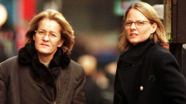 Cydney Bernard, left, with Jodie Foster in 1999 (Photo: Wenn Photos via Newscom/File)