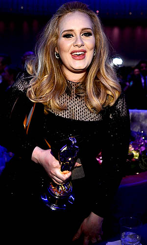 Adele and her Oscar. (WireImage)