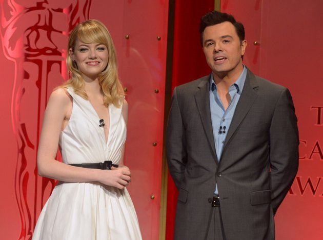 Emma Stone & Seth MacFarlane announcing 85th Academy Awards Nominations