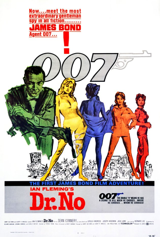 'Dr. No' (1962), starring Sean Connery, was the first Bond movie