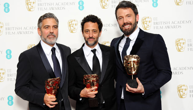 BAFTA winning 'Argo' producers George Clooney, Grant Heslov and Ben Affleck (Photo:Dave J Hogan/Getty Images)