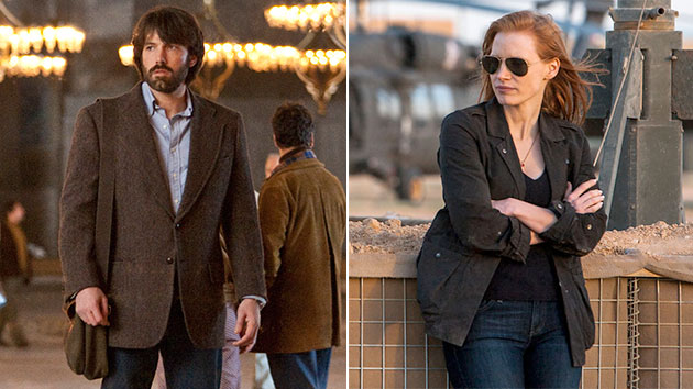 WGA award winners 'Argo' and 'Zero Dark Thirty' (Photo: Warner Bros. Pictures/Columbia Pictures)