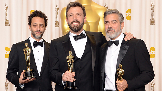 Grant Heslov, Ben Affleck and George Clooney (Photo: Jason Merritt/Getty Images)