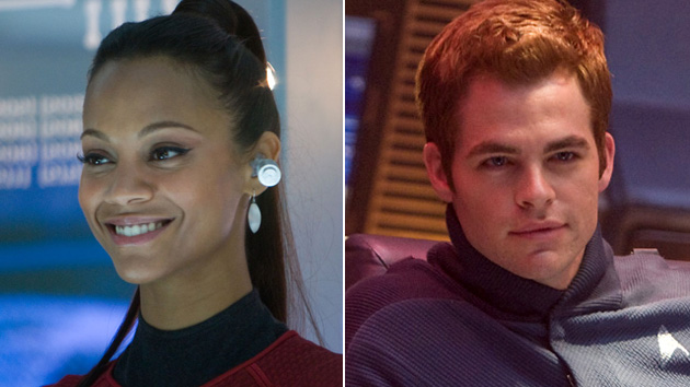 Zoe Saldana and Chris Pine (Photo: Paramount Pictures)