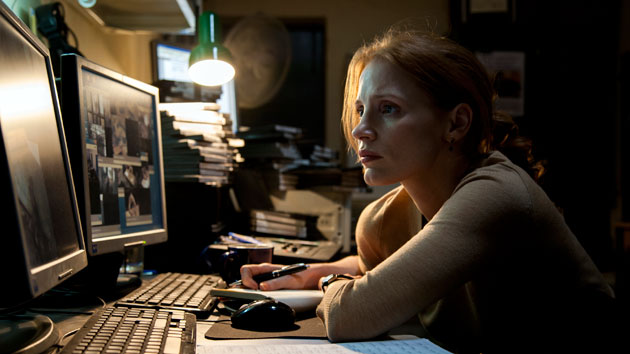 Oscar-nominee Jessica Chastain in 'Zero Dark Thirty' (Photo: Columbia Pictures)