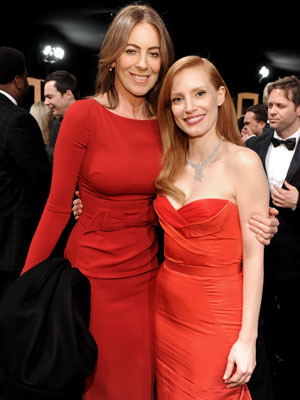 Bigelow and Chastain at the SAG Awards (Photo Dimitrios Kambouris/WireImage)