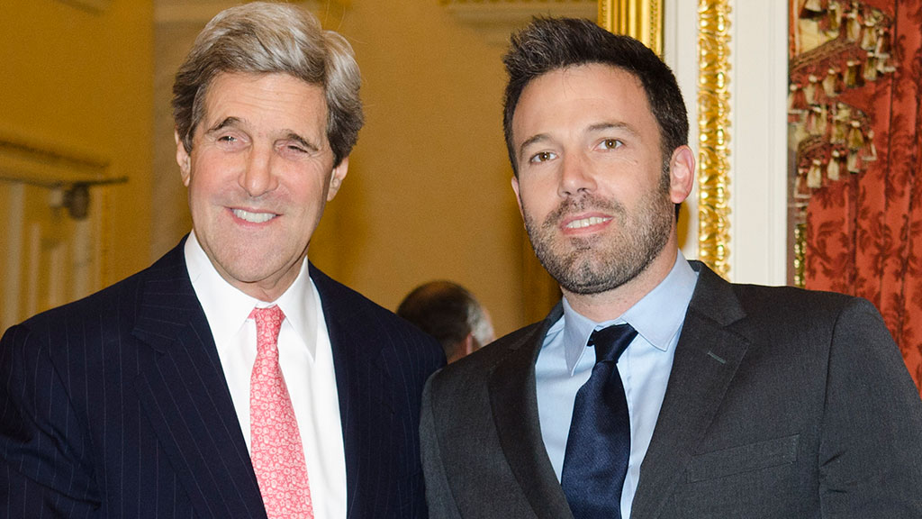 John Kerry and Ben Affleck (Photo: Kris Connor, Getty Images)