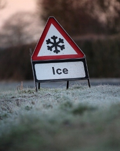 The shape of a British road sign indicates its purpose. Warning signs are triangles. (Photo by Christopher Furlong/Getty Images)