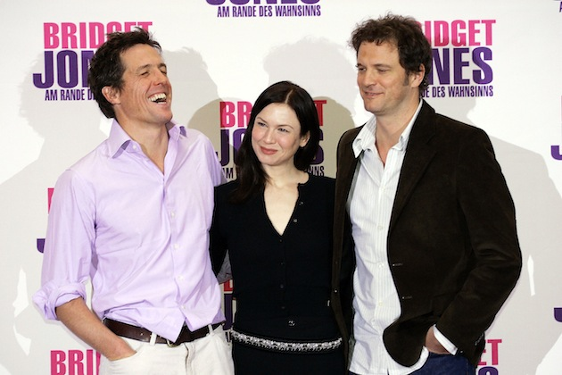 "Hugh Grant, Renee Zellweger and Colin Firth, here in a publicity photo from 2004's ""Bridget Jones: The Edge of Reason,"" will be starring in a new Bridget Jones movie. Author Helen Fielding is also writing a third book about the character. (Photo by Carsten Koall/Getty Images)"