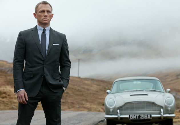 "Some of the scenes in ""Skyfall,"" such as Bond's drive to Scotland in his 1964 Aston Martin. (Photo courtesy Sony Pictures)"