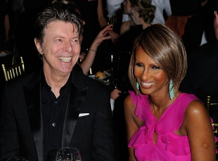 Bowie and longtime partner, the supermodel Iman, are often seen out and about together. (Photo by Andrew H. Walker/Getty Images for DKMS)