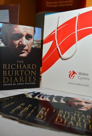 "A copy of ""The Richard Burton Diaries"" from book launch party hosted by The Welsh Government, Swansea University and Yale University Press. (Photo by Frazer Harrison/Getty Images)"