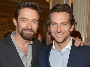 Actors Hugh Jackman and Bradley Cooper, here at a BAFTA Los Angeles tea party last month, will be among the stars at the BAFTA awards in London. (Photo by George Pimentel/BAFTA LA/Getty Images for BAFTA LA)