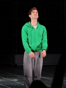 Luke Treadaway plays Christopher, the central character in 'The Curious Incident of the Dog in the Night-Time' at The Apollo Theatre. (Photo by Dave M. Benett/Getty Images)
