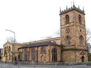 This year, the bells at Dewsbury Minster will ring 2,012 times to ensure that the Devil stays away for the coming year. (Photo by Stanley Walker via Wikimedia Commons)