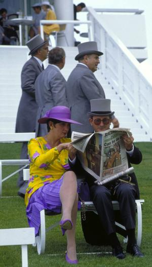 Patrons often dress up for races, as shown here at Epsom Downs. (Photo by Britain on View/Visit Britain)