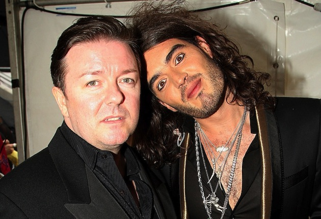 Ricky Gervais and Russell Brand cut their teeth in Britain's stand-up comedy clubs. (Photo by Dave Hogan/Getty Images)