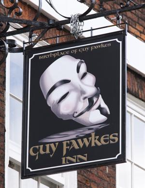 The Guy Fawkes Inn is in York (the real Guy Fawkes' birthplace). Bonfire night celebrations explode across Britain on November 5. (Photo: Visit Britain)