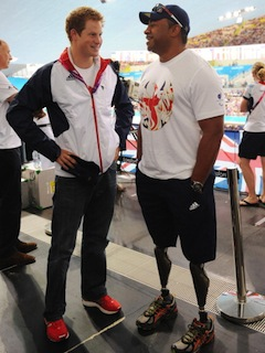 Prince Harry met former soldier and Paralympic athlete Derek Derenalagi at the London 2012 Paralympic Games last summer. (Photo by Stefan Rousseau - WPA Pool/Getty Images)
