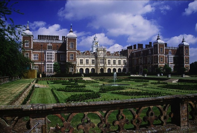 Hatfield House near London is frequently used as a movie filming location. (Photo by Allan Engelhardt via Wikimedia Commons)