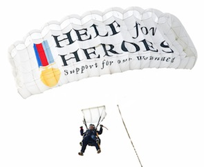 You can sign up to jump out of an airplane, with proceeds going to Help for Heroes. (Photo courtesy of Help for Heroes)