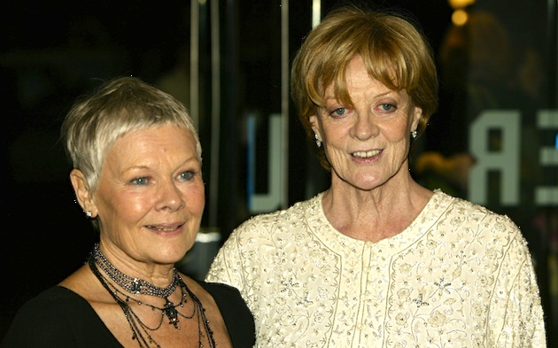 "Actresses Dame Judi Dench (L) and actress dame Maggie Smith, two icons of British film, appeared together in  ""Ladies In Lavender."" (Photo by Dave Hogan/Getty Images)"