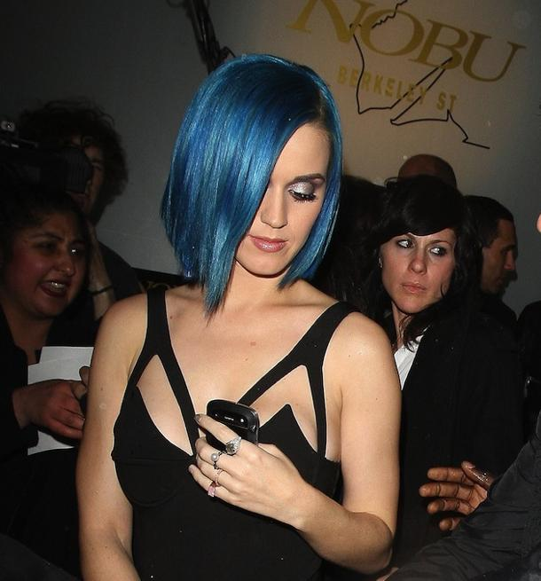 Katy Perry is one of many celebrities spotted at Nobu. (Photo by Sylvia Linares/FilmMagic)