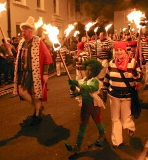 Bonfire Night in Lewes involves torches, costumes and lots of noise (Photo by Mark Harris)