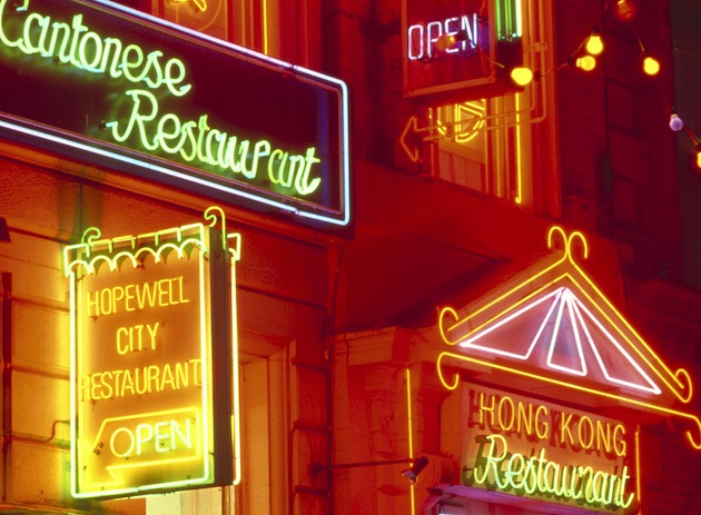 Manchester's Chinatown district comes alight at night with many authentic restaurants. (Photo: Britain on View/Visit Britain)