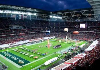 The 49ers played in London in 20010 as part of the NFL International Series at Wembley Stadium. (Photo by Thomas from London, UK, via Wikimedia Commons)
