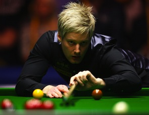 Neil Robertson of Australia, who lost to Mark Selby in the Masters Final in January, is the highest seeded non-British player in the World Championships. (Photo by Paul Gilham/Getty Images)