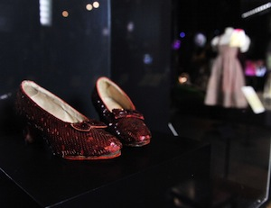 "Dorothy's shoes from ""The Wizard of Oz"" were featured in a Hollywood Costume Exhibition at the V&A Museum. (Photo by Gareth Cattermole/Getty Images for The V&A)"