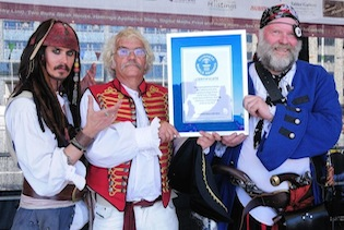 In Hastings, Pirate Day revelers will try to break their 2012 record for the most pirates in one place. (Photo courtesy of Hastings Borough Council & 1066 Country Marketing)
