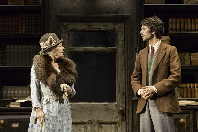 Dame Judi Dench and Ben Whishaw play real-life inspirations behind 'Alice in Wonderland' and 'Peter Pan' in 'Peter and Alice,' one of the most popular plays in London. (Photo courtesy of Noel Coward Theatre)