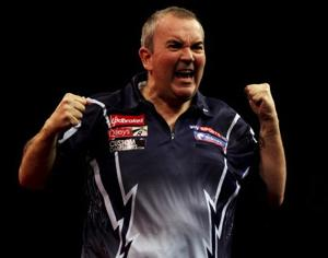 "The expressive Englishman Phil ""The Power"" Taylor will compete for the World Darts Championship. (Photo by Ben Hoskins/Getty Images)"